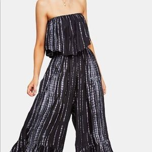 Free People Strapless Jumpsuit S Gorgeous NWOT 🔥
